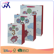 Colorful cute wholesale paper bag for Birthday with number with ballon