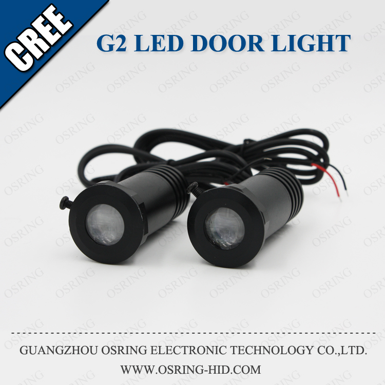 OSRING 3w 5w door light projector ghost shadow light/ welcome car led lights Support custom any LOGO