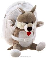cute dog animal toy plush backpack bag/ plush backpacks for kids plush dog toys