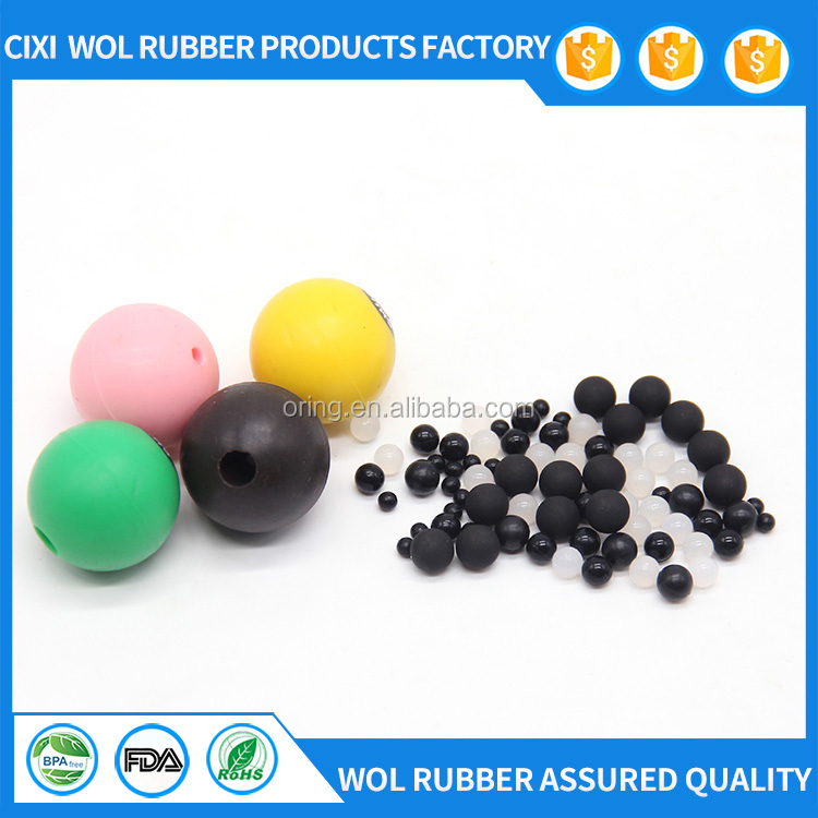 Food Grade Colorful Heat Resistant Silicone Molded Ball for Toy