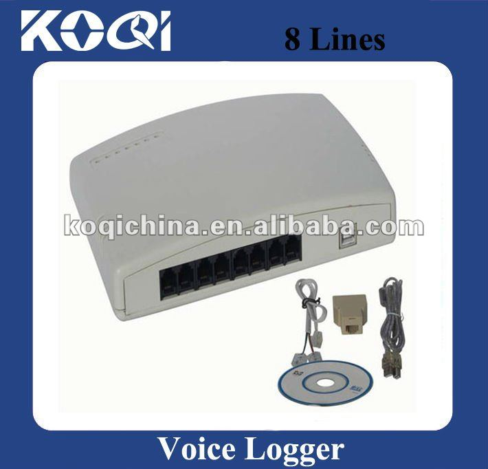 8 channel voice logger