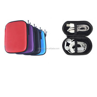China manufacturer OEM/ODM good quality Mini Earphone carrying PU portable with mesh pocket electronical hard case/ eva bag