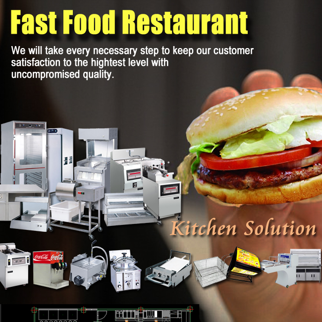 Fast Food/Burger Restaurant Kitchen Equipment In China Shinelong