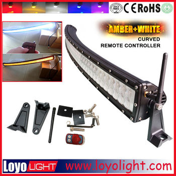 high power 50inch 288W led lightbar remote control dual row multi color curved / straight led light bar