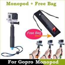 2015 New Arrival Wireless Monopod Extendable Selfie Stick for Go pro Hero4 Black Edition Camera Accessory