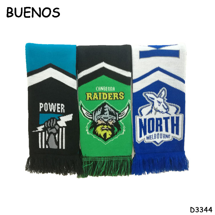 Manufacturers Custom Logo World Cup Polyester Printing Woven Football Fan Scarf Albanian Scarf