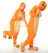 Adults selling hot high quality winter animal pajamas plush pokemon onesie QWAO-8863
