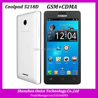 4.5inch screen Coolpad 5218D GSM CDMA dual sim dual core 1.0GHz 256MB RAM 512MB ROM 3.0MP camera Android 2.3 coolpad phones