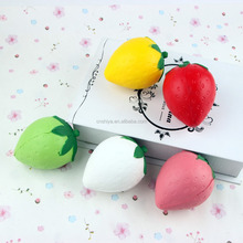 Kawaii ball soft mini white/pink/red/green squishy , good smell strawberry squishy wholesale 2017