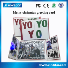2016 Newest souvenir Customized photo insert light up flashing christmas cards