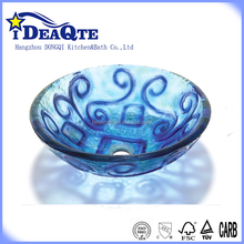 Alibaba unique hand bathroom glass wash basin toilet price