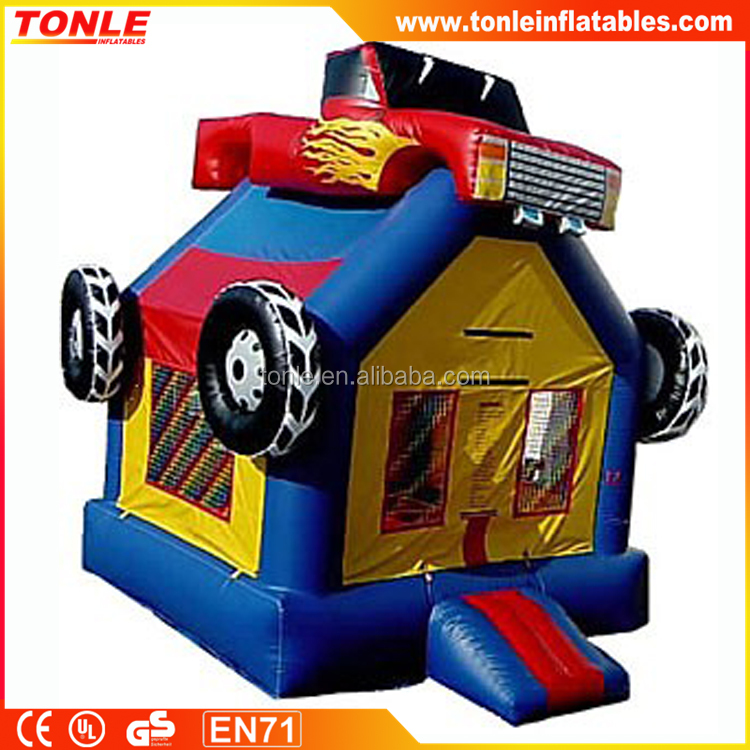 3D inflatable monster truck bounce house, kids monster truck jumping castle with prices