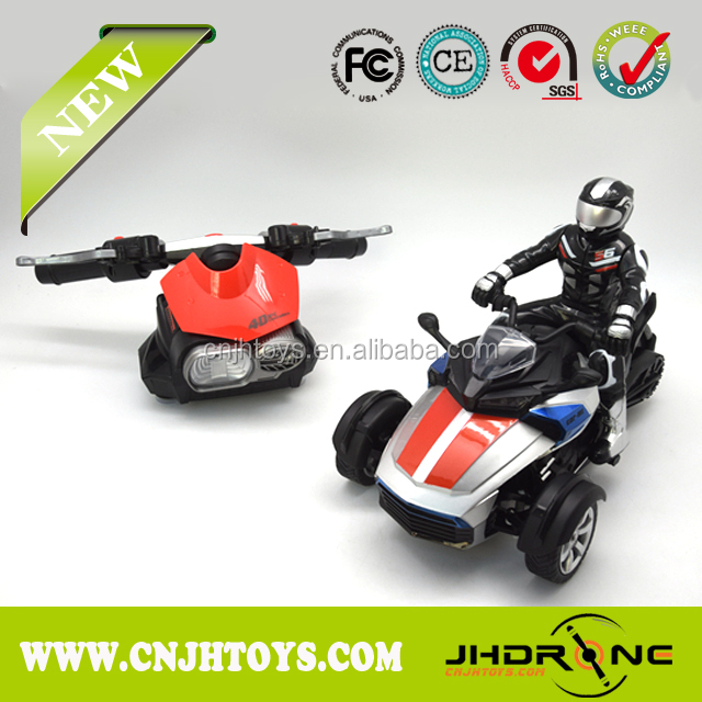 NEW 2.4G 1:8 Scale 4D Gravity Sensor RC Motorcycle, RC control Crazy Motorcycle with light