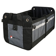 Fully collapsible and portable storing tools car trunk organizer