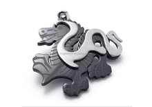 High Quality White & Black Stainless Steel Dragon Shape Big Size Pendants Necklace for Men