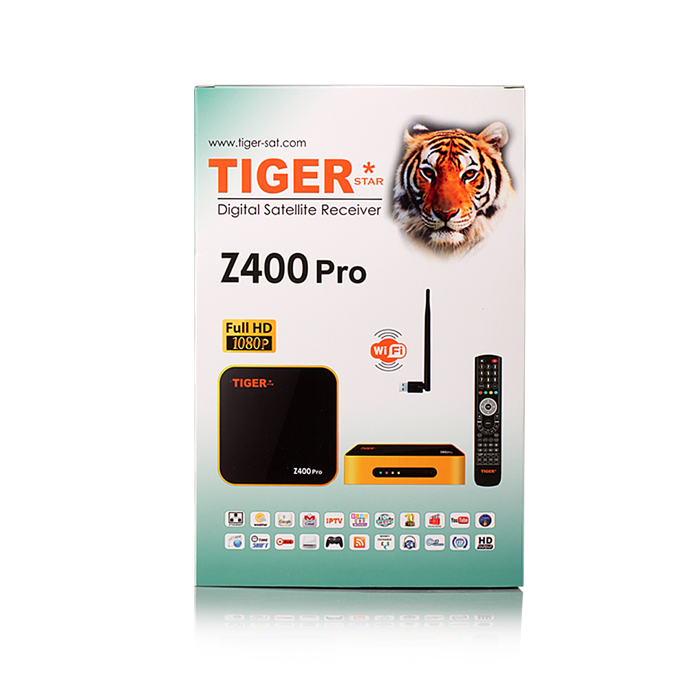 Tiger satr New Z400 Pro set top box DVB -S2 Full HD <strong>1080P</strong> Support Youtube