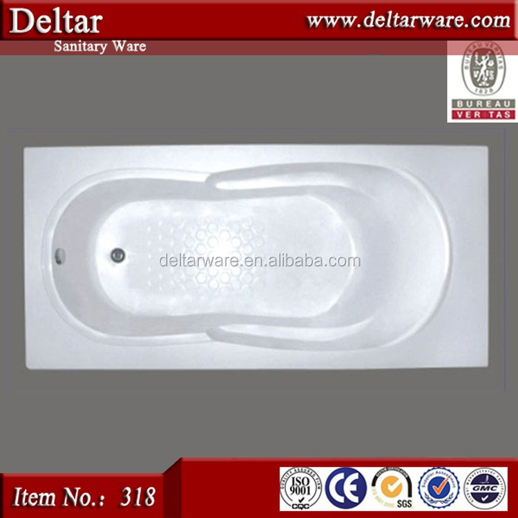Chinese Common Bathtub, The Factory Elliptical Wholesale Bathtub, Cheapest Drop-in Cast Iron Bathtub