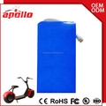 Rechargeable 60V 20Ah Lithium ion Battery Pack For 3000w Electric Scooter Case Customized