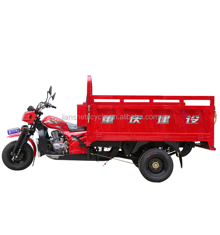 Heavy duty 250cc double tyre tricycle with 5 wheels