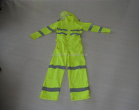 2015 Fancy Style Yellow High-Viz and Best Quality Customized Reflective Safety Jumpsuits with Reflective Tape