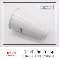12OZ White logo printed hot drinking double wall paper cups for coffee