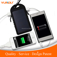 YUNDU Factory 5000mah Waterproof Solar Charger for HUAWEI note 5 One Year Warranty