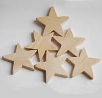 Unfinished Wood Folk Star Cutout,Christmas decorative wood star supplier dongguan