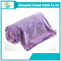 buy direct from china factory fabric texte burnout flannel blanket
