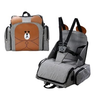 Portable Multifunctional Baby Infant Travel Booster Seat Shoulder Backpack diaper bag sets