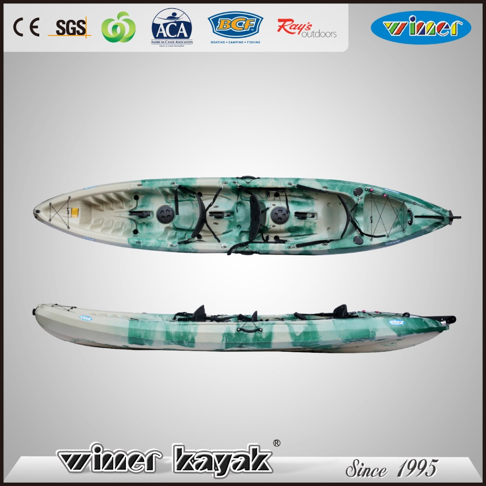 Plastic sit on fishing 3 person pedal kayak wholesale