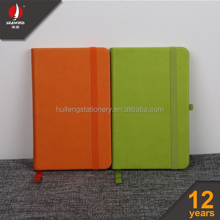 A4 A5 A6 A7 Italy thermal PU notebook with pen holder
