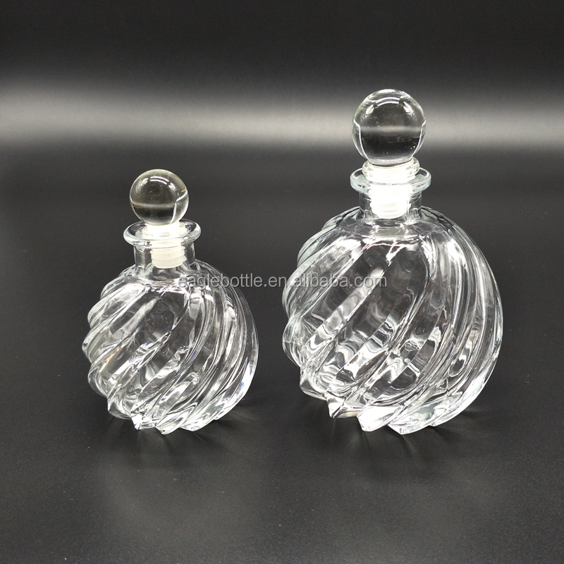 pineapple shaped embossed decorative glass bottle reed diffuser 125ml