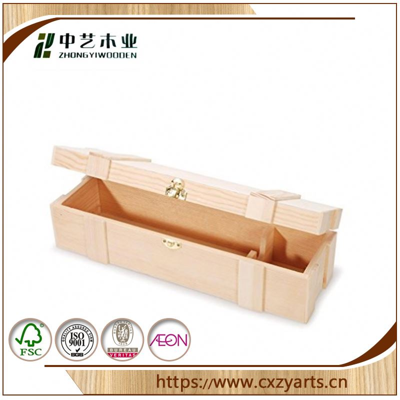 Fashionable best selling Accept OEM rustic hinging customized 12 bottle wooden wine box