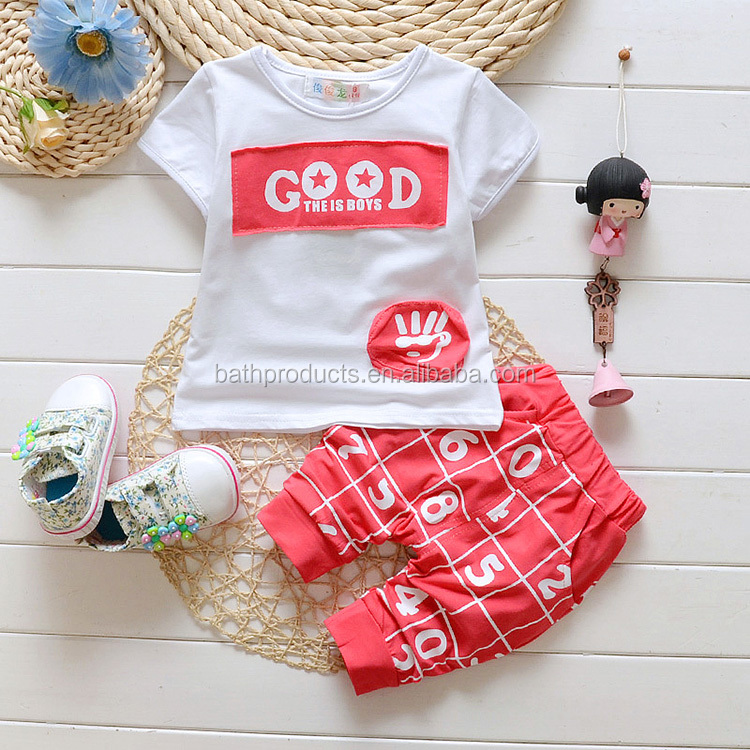 Wholesale cotton baby boys apparel