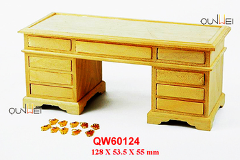 Wooden Mini Desk Dollhouse Furniture Toy