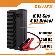 Car Jump Starter 600A Peak up to 6.0L Gas or 4.0L Diesel Multifunction Battery Booster Pack Emergency Jump Starter with SOS