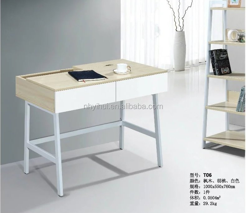 Office furniture modern design metal frame desk T06 with cheap price