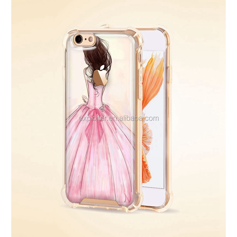 Reliable protective air hybrid Reliable epoxy custom design clear phone <strong>cover</strong>
