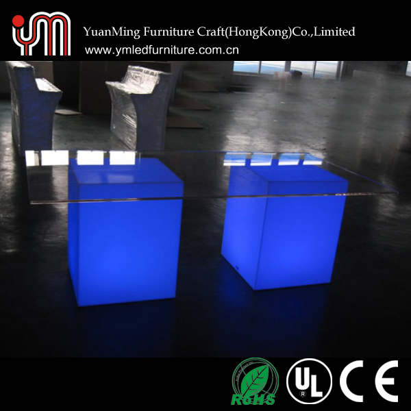 Led Cube Table,Light Up Cube Table,Plastic Cube Table