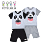 Hot Selling Summer Boy short sleeve Spider kids Suit Children Sets Baby T-shirt + Short Pants Kids Clothing Sets 100% Cotton