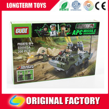 2016 Educational tank lntelligent plastic building blocks toys army vehicles