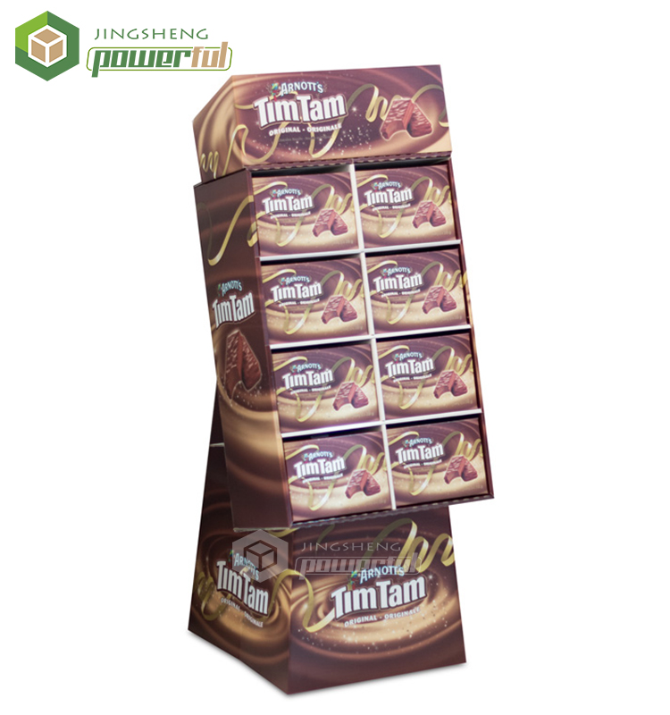 Chocolate Candy Box Packaging Paper Floor Stand Cardboard Shelf Display