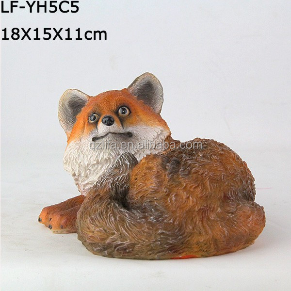 Resin animal fox garden statue product molds