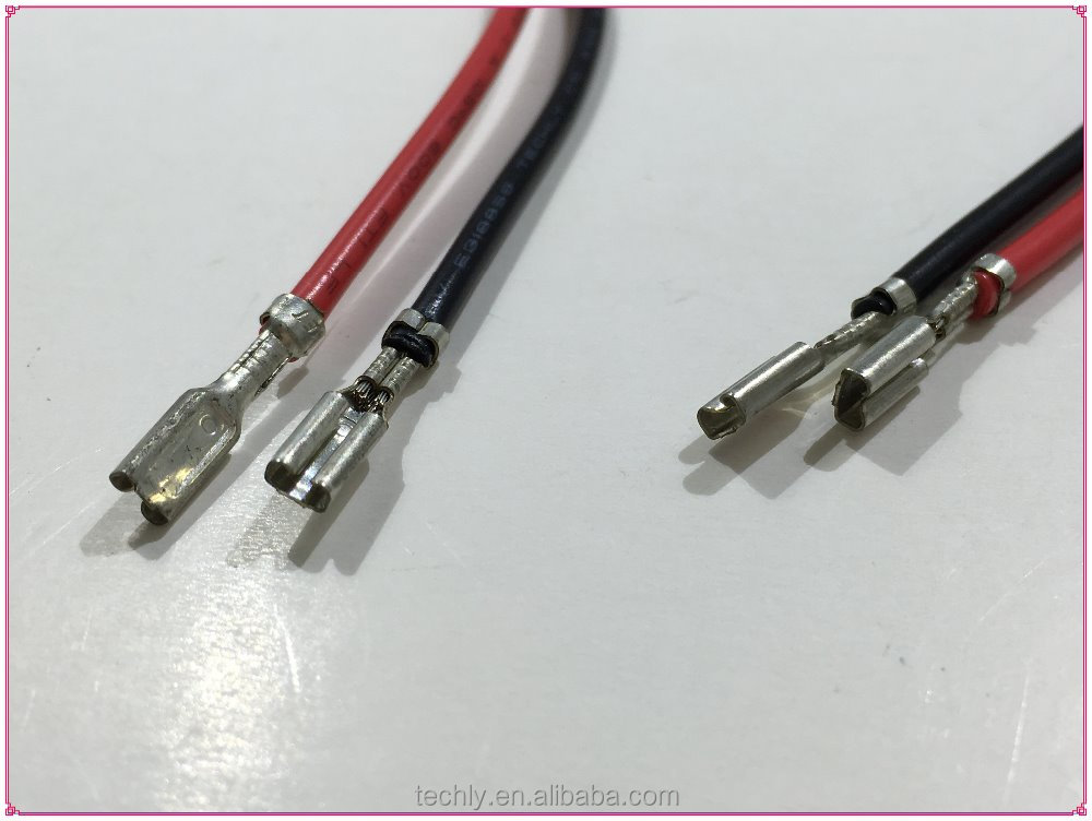 METAL 2.1 Pin DC Jack 0.8Tab Thick Terminal Power Cable Harness