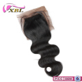 XBL 2016 fashion body wave human hair silk closure
