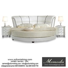 C021 European style modern led round king size bed