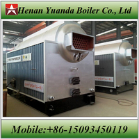 Big furnace door Wood burn steam boiler