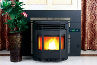 Classical 10kw Bay front Insert wood pellet stove