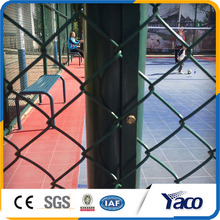 High quality 5mm wire dia 75mm hole size dark green Chain link fence