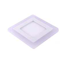 9w double color led <strong>flat</strong> square ceiling panel light